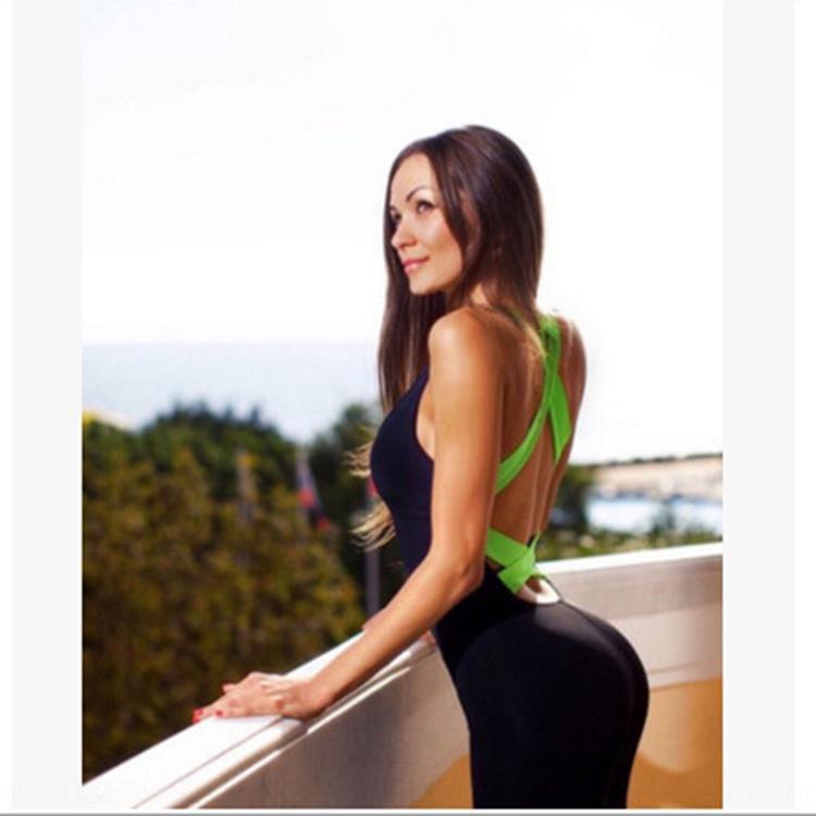 uNTS3 / alta qualidade de verão calças roupas esportivas macacão sexy yoga yoga moda calças stretch bandagem sportswear