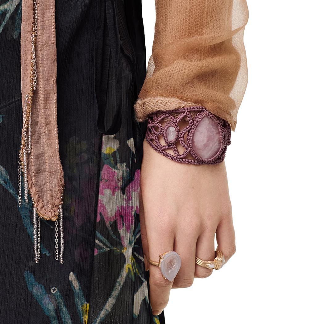 البوهيمي نمط مع القطن حبل منسوج واسعة سوار سوار الراتنج سوار قابل للتعديل للمرأة الأزياء Jewlelry