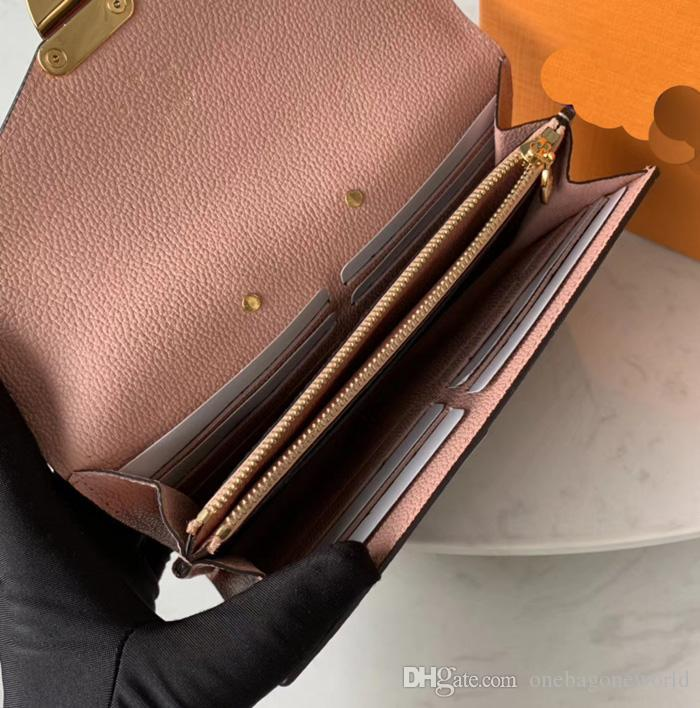 Top qualité en gros Divers Designer en cuir véritable avec toile longue tout rond Portefeuille fabuleux carte vrai sac de femmes de luxe LM58414 Holde