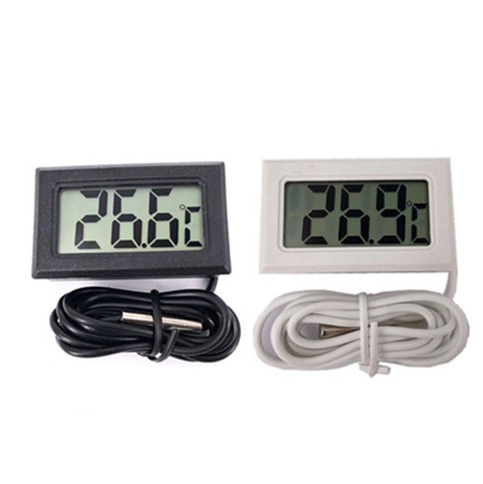 Mini LCD Digital termómetro del sensor de temperatura del congelador de refrigerador Instrumentos sensor de temperatura preciso medidor digital -50 ~ 110C LJJP10