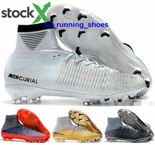 كرة القدم FG المرابط CR7 الكرة كريستيانو الرجال V ال superfly 5 حجم لنا 12 رونالدو لكرة القدم يورو 46 أحذية الرجال النساء AG زئبقي الأحذية العالية أعلى الأخضر
