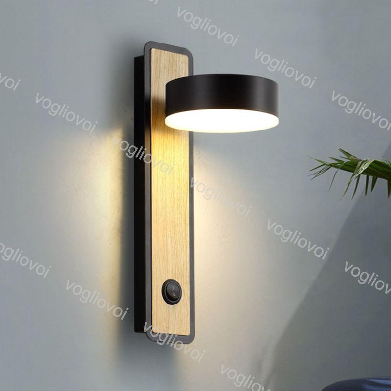 مصباح الجدار 12W أسلوب غرفة نوم دراسة غرفة المعيشة أضواء المنزل القراءة ضوء اللوح الأمامي apacket