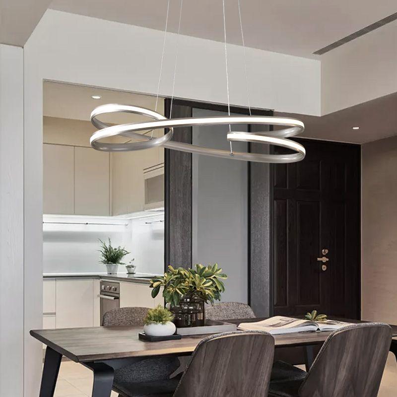 NEW عكس الضوء LED الحديثة الثريات قلادة مصابيح غرفة طعام وغرفة نوم studyroom شنقا الثريا المباريات 110V 220V