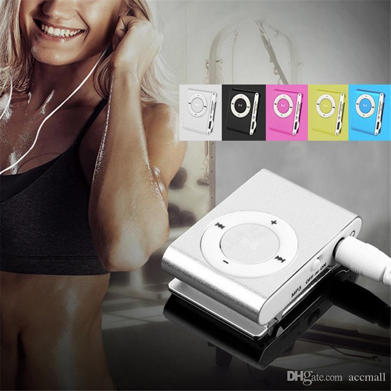 Hot Fashion Mini Clip Digital MP3 Music Player No LCD Screen USB with Micro SD/TF Card Slot Black Silver Mixed Colors