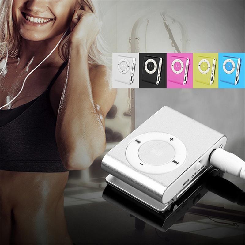 Hot Fashion Mini Clip Digital MP3 Music Player No LCD Screen USB with Micro SD/TF Card Slot Black Silver Mixed Colors