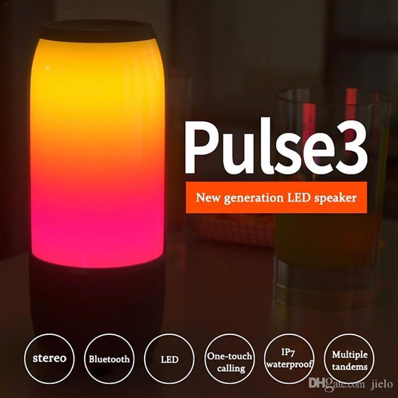 Haut-parleur sans fil Bluetooth Haut-parleurs portatifs Lumières LED Extérieur Portable Portable Haut-parleur Subwoofer Dropship