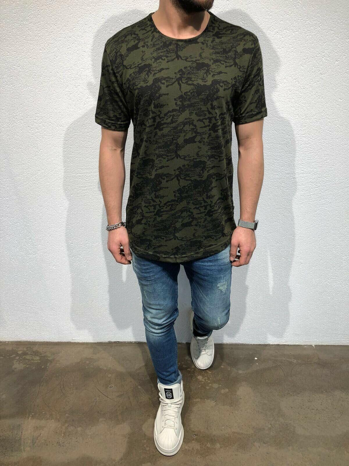 T militar shirt 2019 New Style tshirt Homens Verão O Neck manga curta Camouflage Tops Causal Cotton T-shirt solto shirt Tee masculino