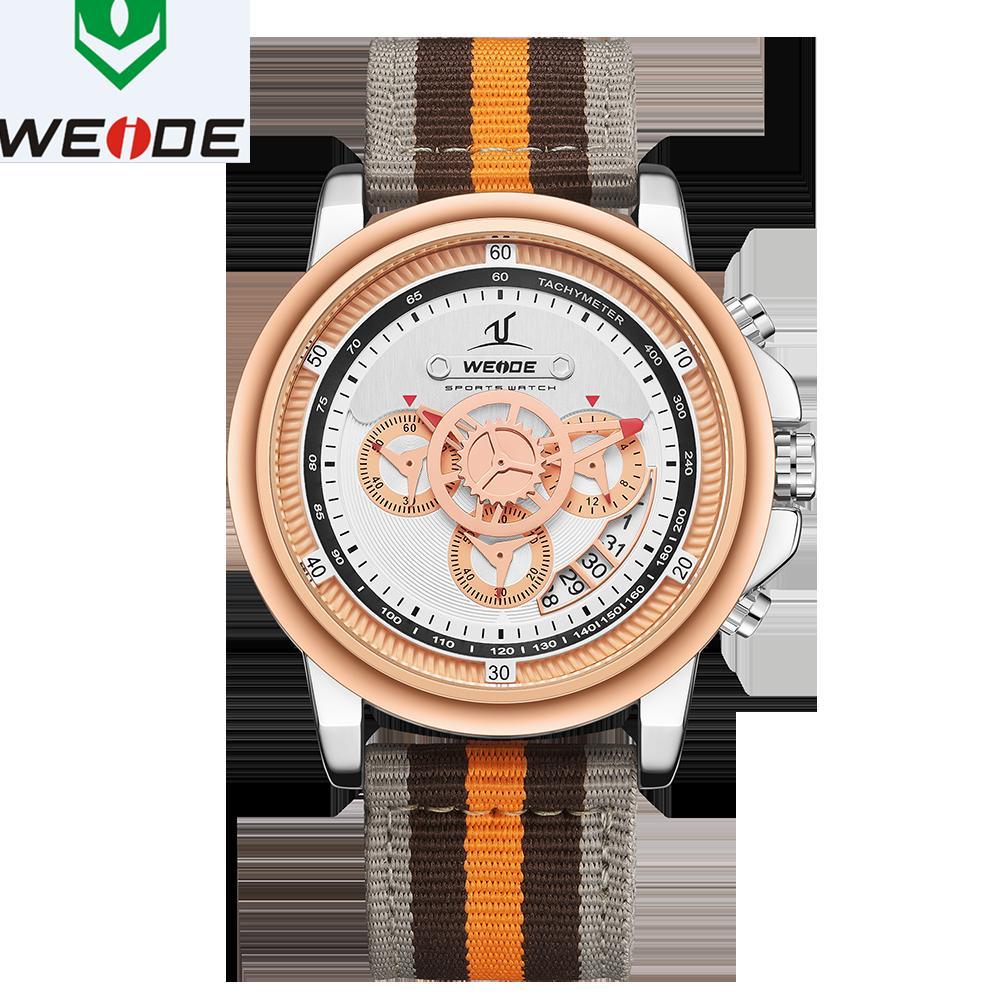 Вайде Люкс мужская часы Европейский диапазон нейлона 3 глаза высокая-класс воды мужские часы Relogio мужчина часы цифровой цифры дата часы