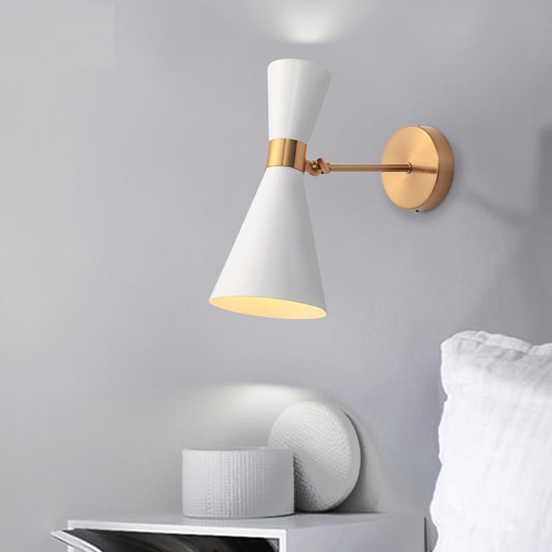 نوم الشمال السرير مصباح الجدار مصباح بسيط الحديثة الممر ممر فندق جولدن خلفية مصباح LED الإبداعية