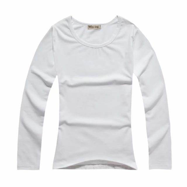 New Fashion Men Long Sleeve Lycra Cotton Tshirts For Women Solid T Shirt Make Your Own Tee Shirt Custom Print Design Photo