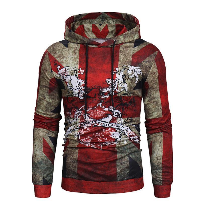 Tasarımcı kapşonlu sweatshirt ter mont kazak mont Sonbahar ve kış yeni büyük gündelik erkek üst olan beyaz Mens
