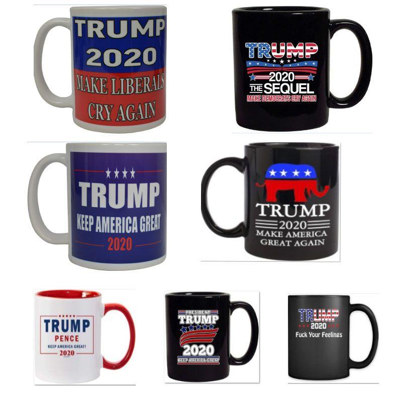 Trump Kaffeetassen Handgriff- Ceramic Cup Cartoon Donald Trump Wasser Cups Make America Great Again Keramik-Becher 9 Farben HH9-2638