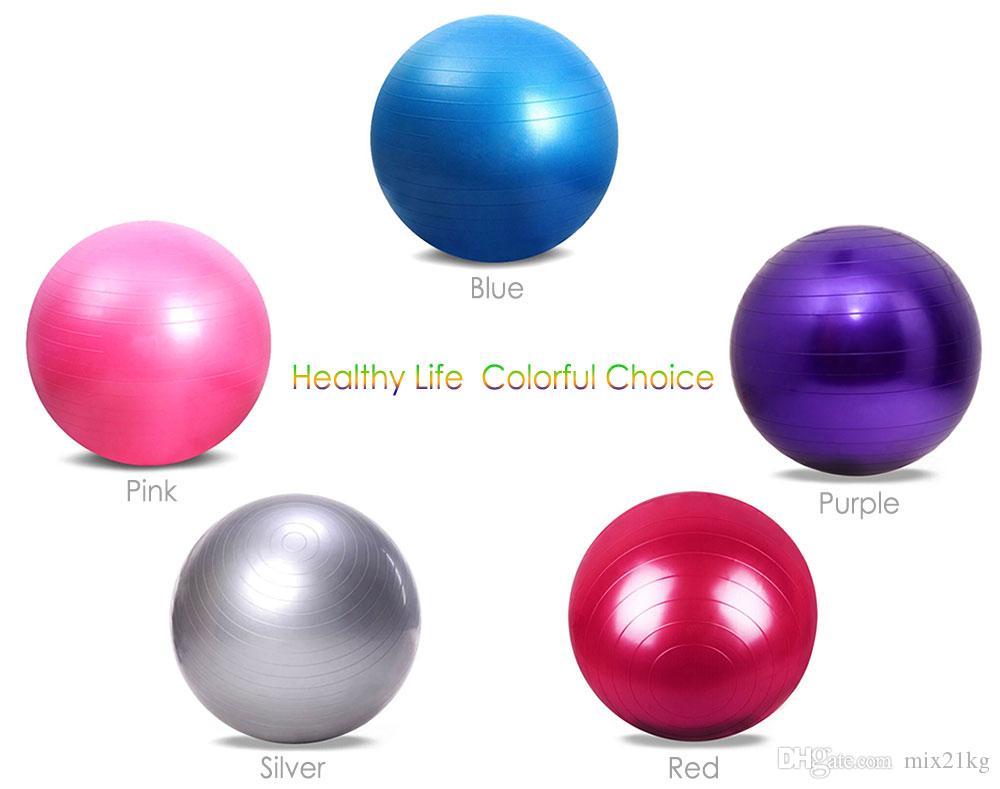 2017 Nouveau 65cm Santé Fitness Yoga Ball 5 Couleur Utilitaire Anti-slip Pilates Balance Balles De Yoga Sport Fitball Proof pour Gym Fitness