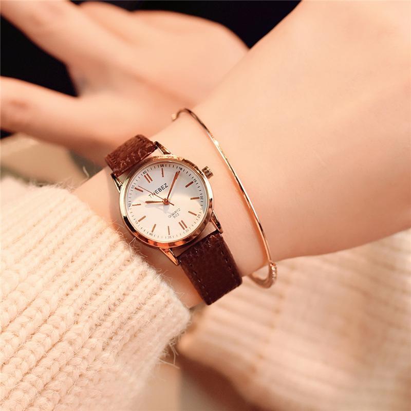Ti THEBEZ мини-школьница Корейский Краткая тенденция восстановить древние пути стиль водонепроницаемый шикарный маленький наручные часы