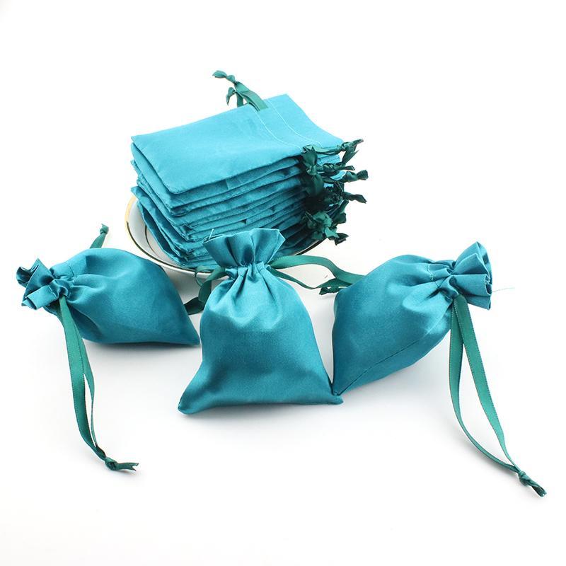 8x10cm raso con coulisse Regali Borse di stile cinese della festa nuziale di favori di Natale Gioielli imballaggio Sacco Sacchetti del sacchetto dell'organizzatore