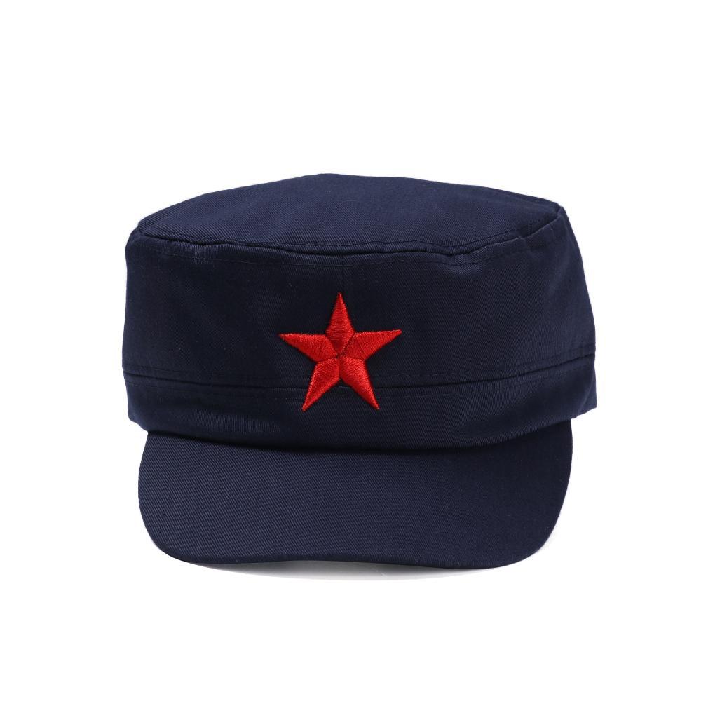 HOT Военный Cap Красная звезда вышивки Cap Hat Военные Army Green плоские шляпы для мужчин Женщины Урожай Bone Мужчина Женщина армии Sun Hat