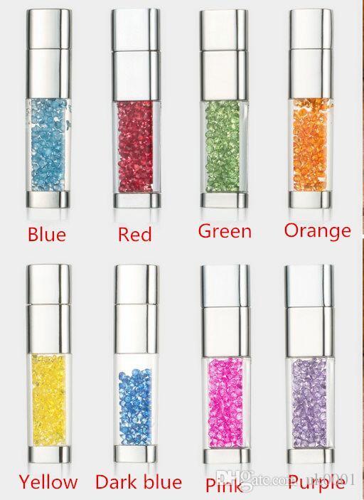 Hot Pen drive diamond usb flash drive 4gb 8gb 16gb 32gb 128gb usb memory stick metal pendrive colourful flash card usb key
