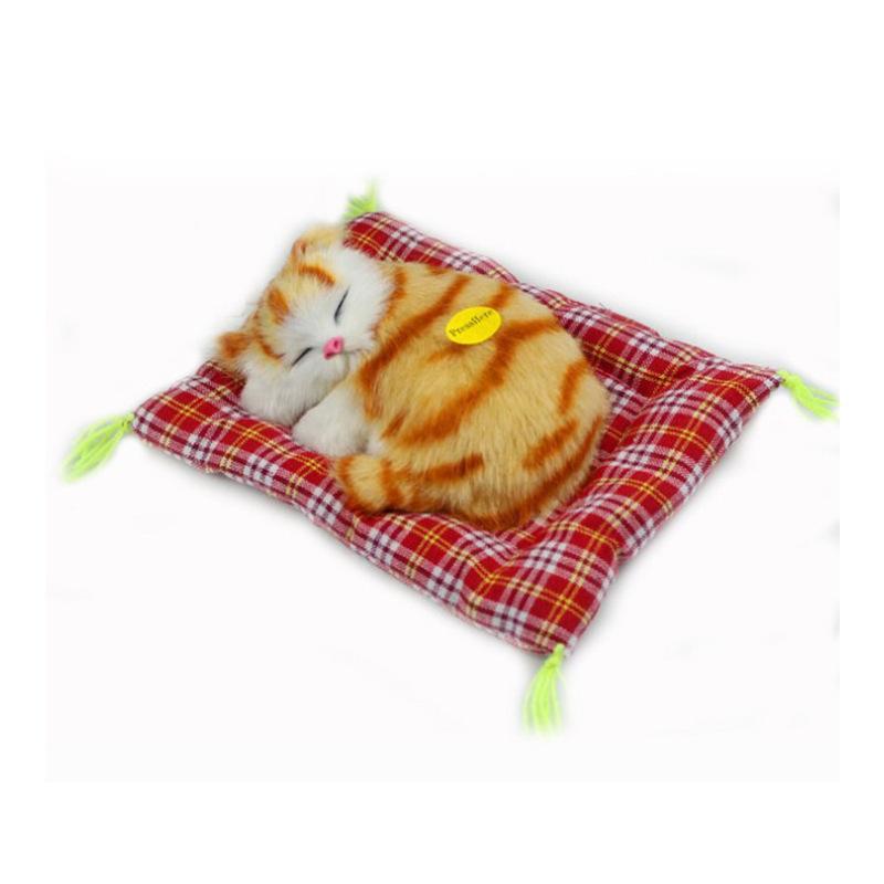 محشوة لعب جميل الحيوان محاكاة استرضائه دمية القطيفة النوم القطط لعبة مع الصوت للاطفال لعبة هدية عيد ميلاد دمية اللعب