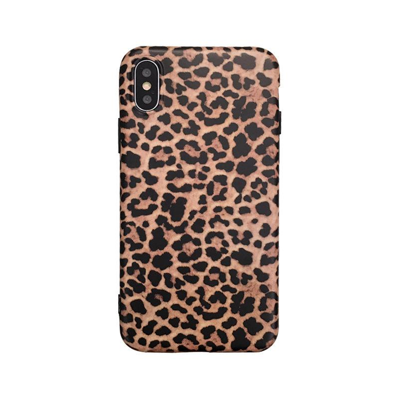 Personalized Leopard Silicone Soft Iphone 11pro Max Mobile Phone Shell Cell Phone Cases Anti-fall Bracket Water Resistant Kickstand Card