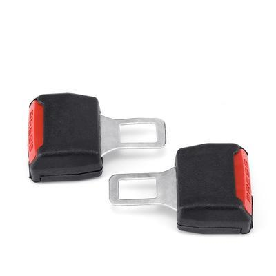 سلامة مشبك معدني لحزام 2PCS مقعد السيارة العالمي حزام كليب أحزمة الأسود موسع سلامة التوصيل إنذار CANCELLER EEA277