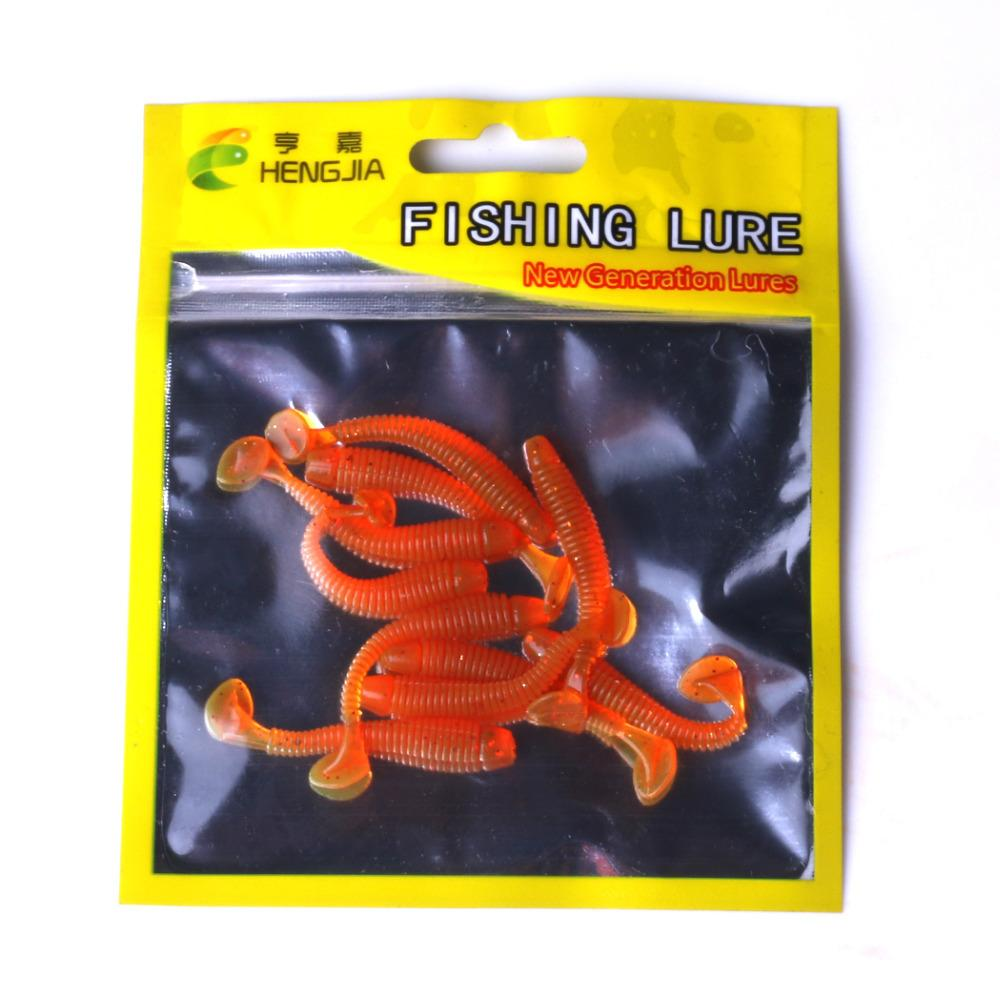 10pcs 5cm 0.7g señuelo suave jighead señuelos de pesca cebos de silicona suave