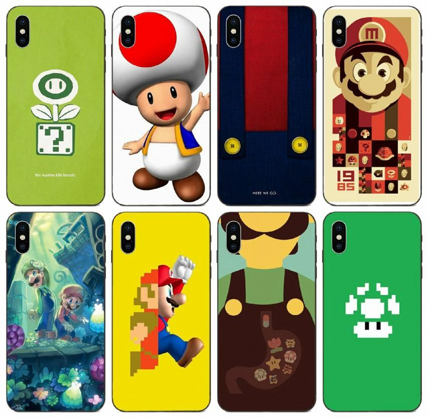 Funghi [TongTrade] Super Mario Bros caso di iphone per 11 Pro X XS Max 8 7 6s 5s 6p 5 Galaxy A3 S10 S9 Huawei P20 Lite Xiaomi 9 TPU Pro