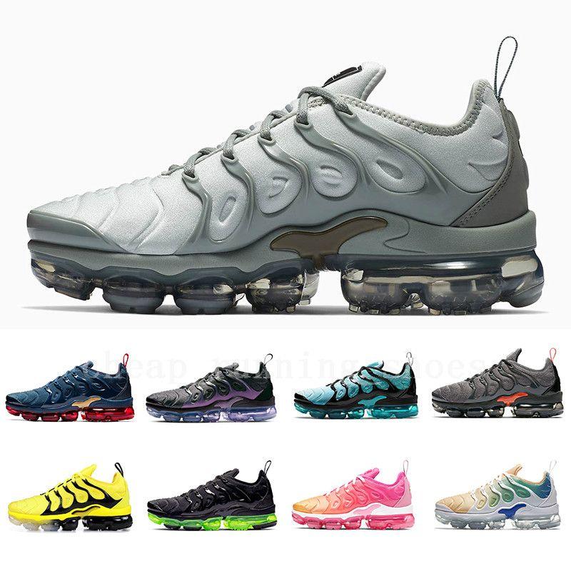 Compre Nike Air Vapormax Plus Shoes Claro Limón Limón Megatron Plus Hombres  Mujeres Zapatos Para Correr Geométricos Águilas Negras Activo Fucsia ...