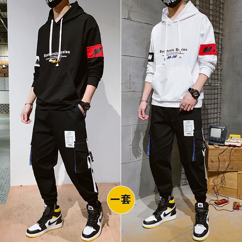 Herrenanzüge neue Paare Pullover koreanische Version des Trends der Sport- und Freizeit-loses Werkzeug Hoodiesklage eingestellt