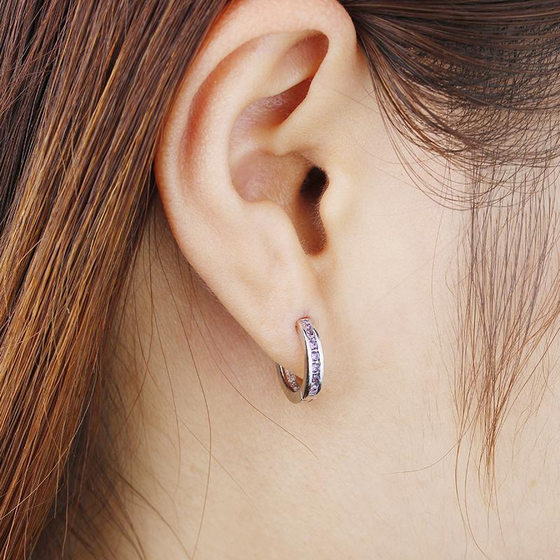 100% 925 Sterling Silber und weise glänzende Kristallstern Frauen Geburtstagsgeschenk ladiesstud Ohrringe Schmuck billig Großhandel