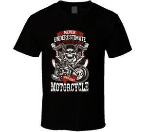 camisa feita sob encomenda T Nunca Customstimate Motorcycle Man Tee