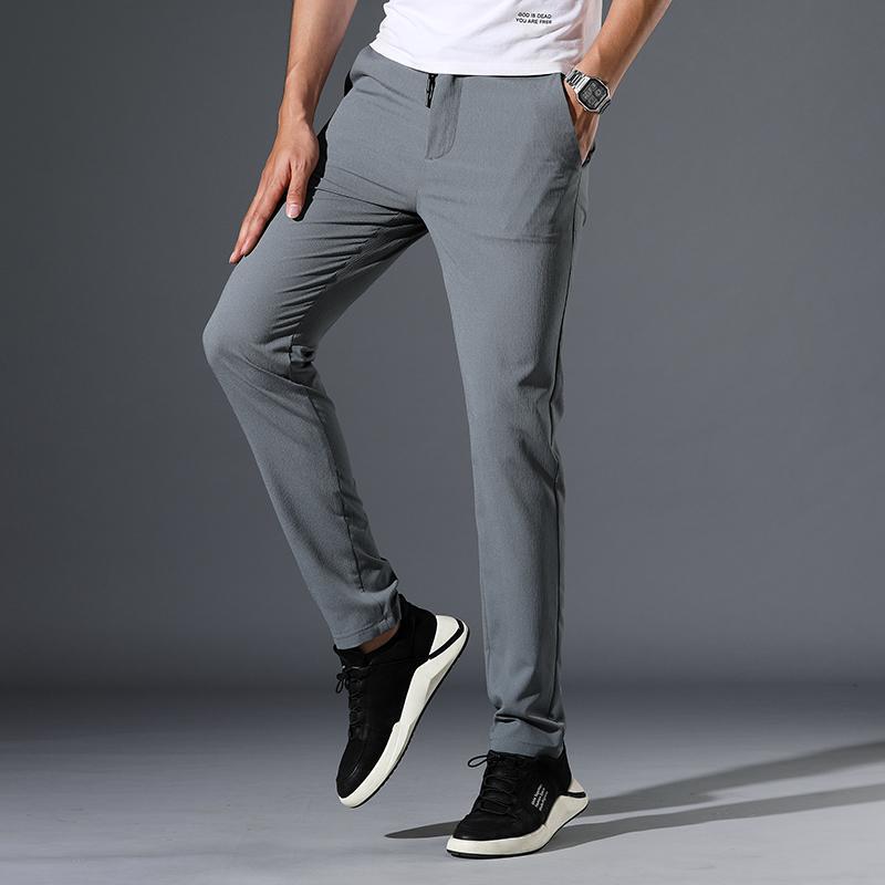 HCXY Pantalons Hommes 2020 nouvelle styke printemps été Pantalons simple bussiness hommes couleur unie coton pour hommes
