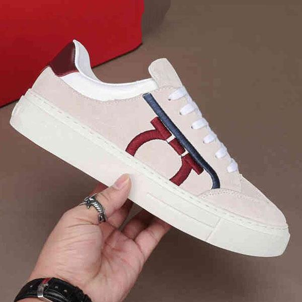 роскошный дизайнер WW 2020 Новая высококачественная мужская повседневная обувь мужская мода кожаные кроссовки повседневная обувь с вышивкой ic05