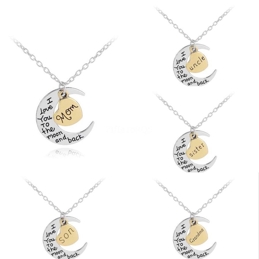 2020 Nouvelle Lettre européenne d'acier inoxydable personnalisé nom personnalisé Collier Glacé Nom de la chaîne Pendentif Collier avec pendentif pour les femmes # 194