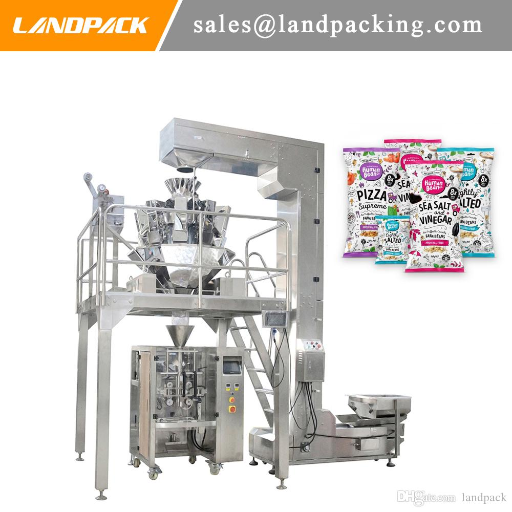 Multihead Weigher Faba Bean packing Machine Broad Bean Automatic Vertical Form Fill Seal Machine Precision Weighing