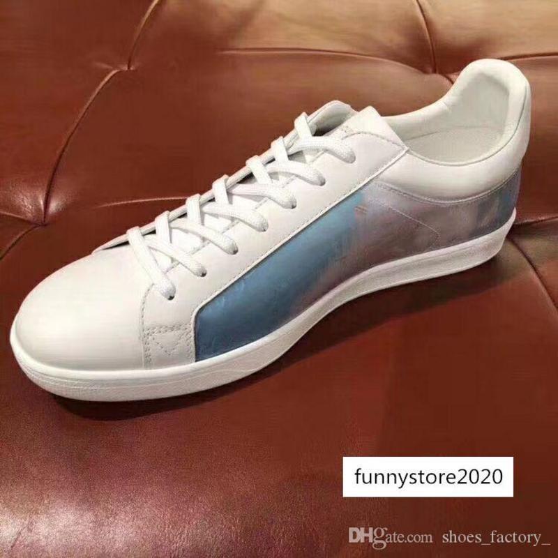 Hot moda novos treinadores modelo em execução para homens corredores apartamentos Genuine marca Couro piloto sapatos de luxo TAMANHO 35-45