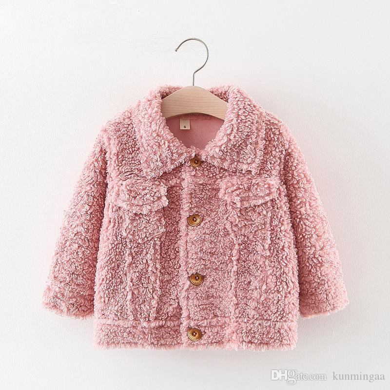 Girls Faux Fur Coat New Winter Fleece Warm Pageant Party Warm Jacket Snowsuit Baby Hooded Outerwear Kids Clothes