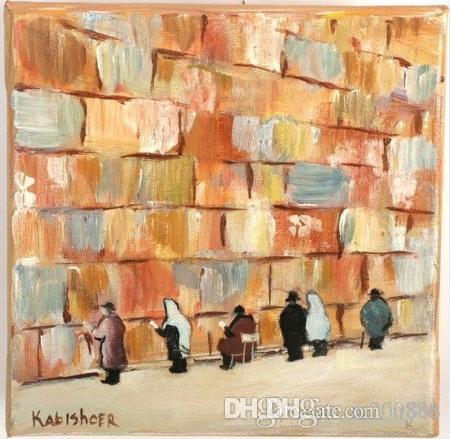 Jérusalem Kotel Mur Des Lamentations Peint À La Main HD Imprimer Moderne Abstrait Art peinture à l'huile, Wall Art Décor À La Maison Sur Haute Qualité Toile g311