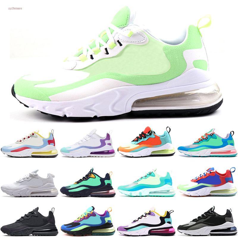 NikeAirMax270React Ayakkabı CNY Gökkuşağı Topuk Eğitmen Yol Yıldız BHM Demir Kadınlar Sneakers Boyut 36-45 Running 2020 Yeni Yastık Sneakers Sports Tasarımcı Erkek