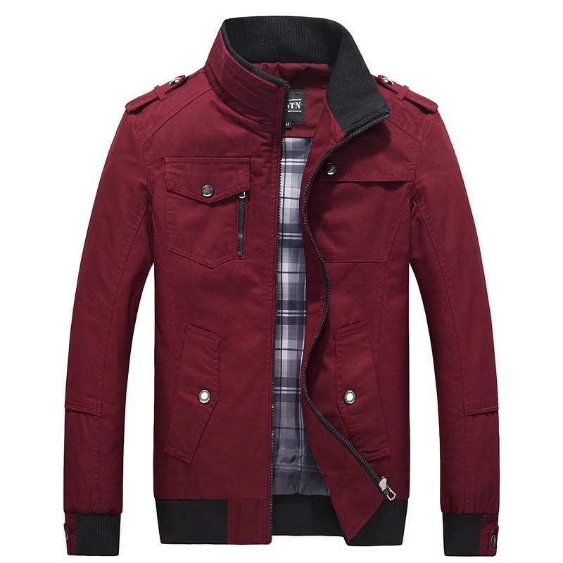 2020 beiläufigen Männer Jacke Frühling Armee-Jacke Schwarz Rot Männer Mäntel Winter-Mann-Oberbekleidung Herbst Overcoat 5XL