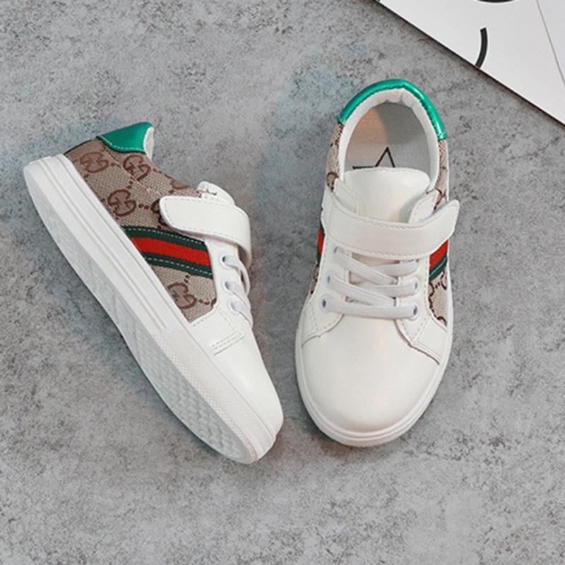 Весна Лето Дети s девочек обувь Детская обувь Повседневная Стиль Корейский колющие Pattern Обувь для мальчиков обуви Kid Caual Чистка обуви Мальчик