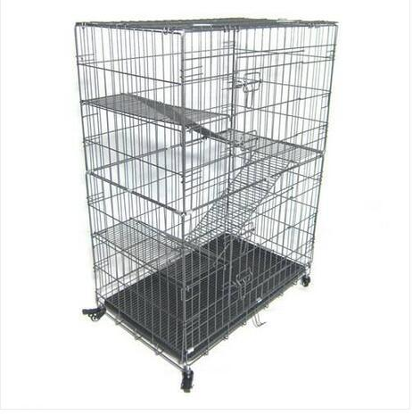 Wholesasles Free shipping Large Folding Collapsible Pet Cat Wire Cage Indoor Outdoor Playpen Vacation