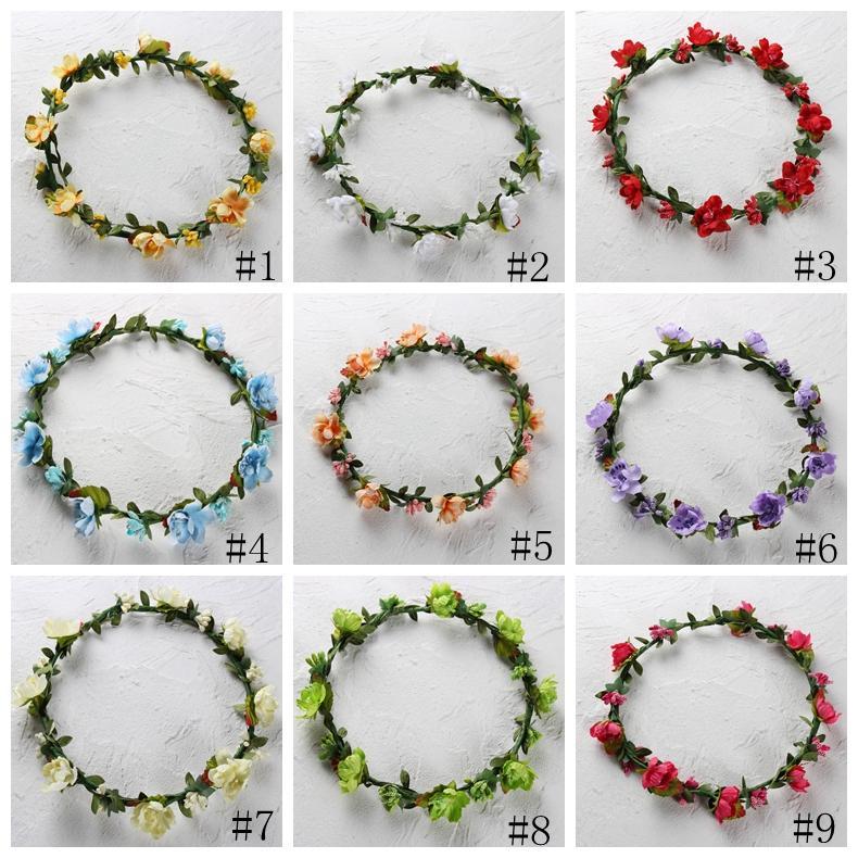 Grinalda do florista Garland 11 estilos Bohemian ameixa Headband Garland Festival casamento da noiva decorativa Flores Coroas GGA2312