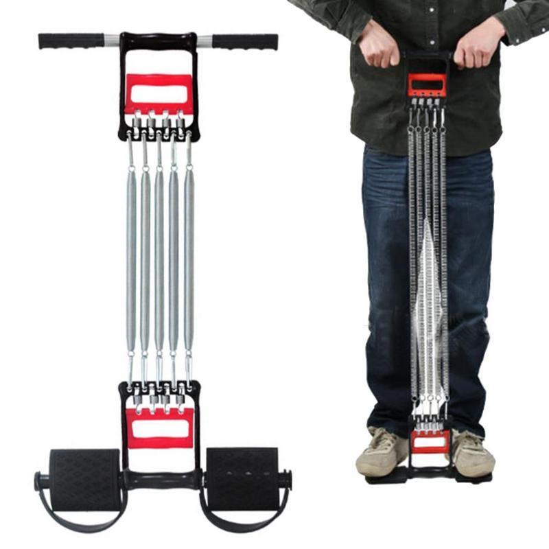 Aço inoxidável Primavera Peito desenvolvedor Expander Homens aptidão Músculos Tension Extrator exercício do exercício resistência bandas Equipment
