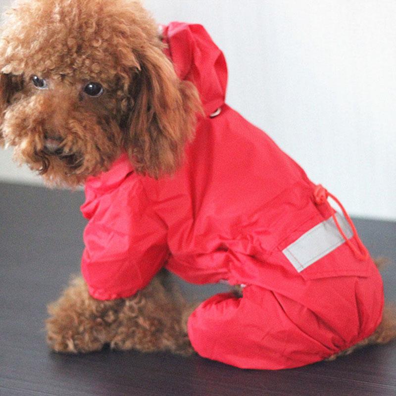 Nueva chaqueta impermeable 2020 Capa del perro del gato del animal doméstico impermeable con capucha reflectante Pequeño perro de perrito de lluvia para perros suave de malla transpirable ropa para perros