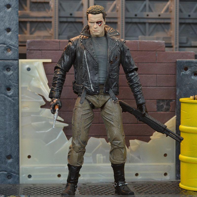 The Terminator Action Figure T -800 / T -1000 PVC Action Figure Toy Model 18cm for children toy T190912