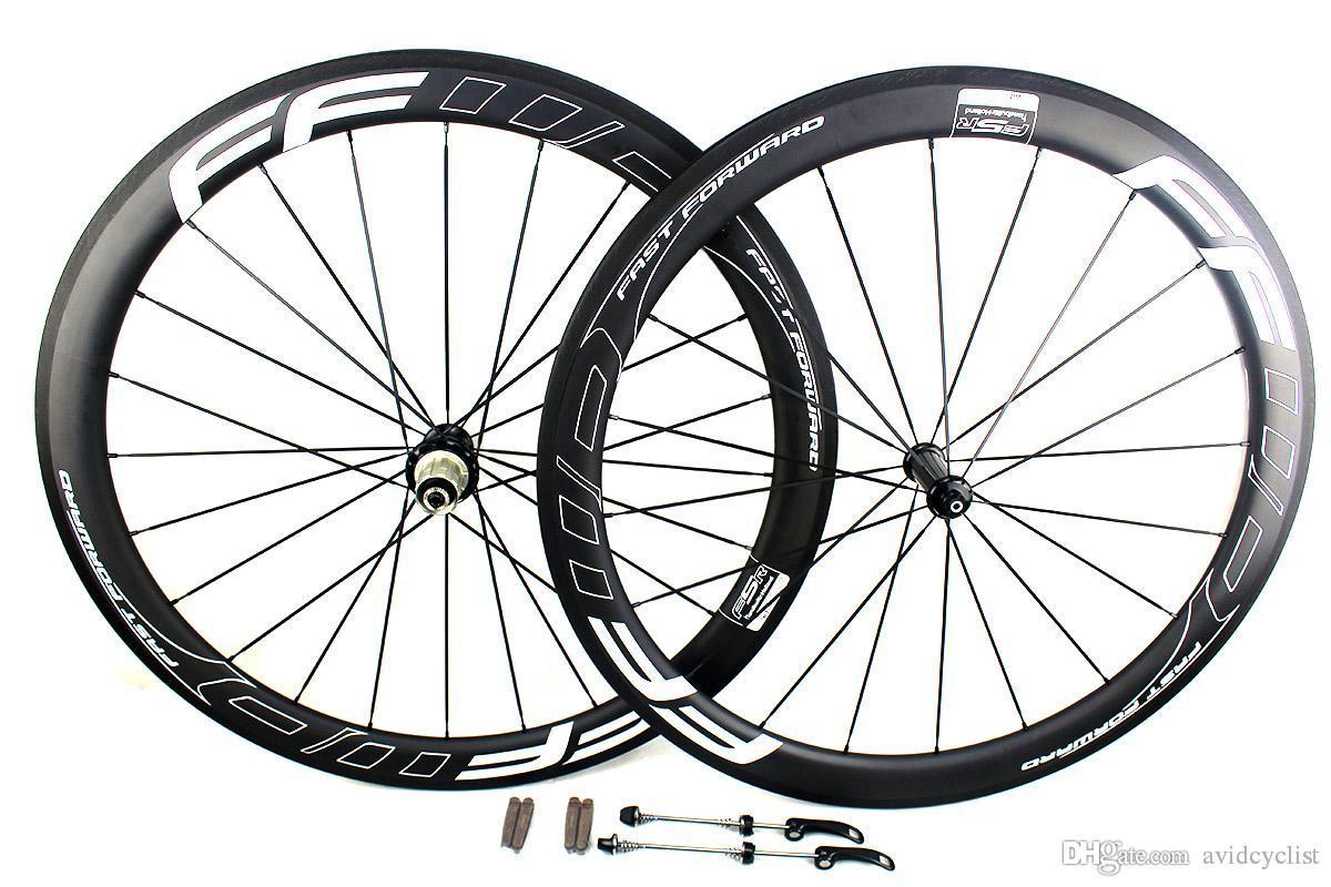 FF fast Forward in white 50mm carbon road bicycle wheels Powerway Hub R36 Basalt brake surfce racing wheel width 25mm UD matt