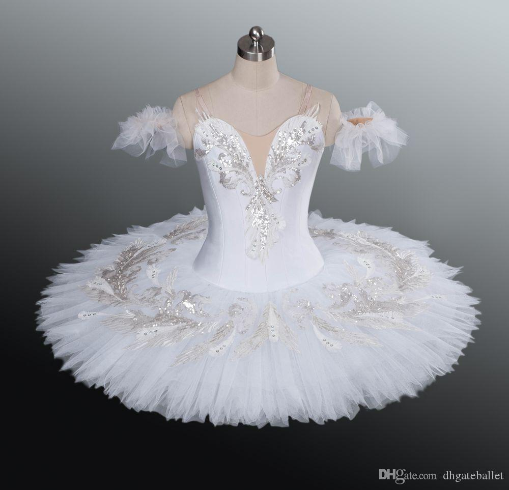 White Swan Lake ballet tutu professional adult classical white tutu Girls professional tutu ballet pancake platter for competition