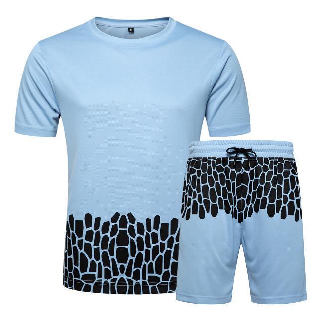 2020 новое поступление мужские дизайнерские спортивные костюмы летние дышащие активные мужские топы мода контрастный цвет бег роскошные Мужские спортивные костюмы S-2XL