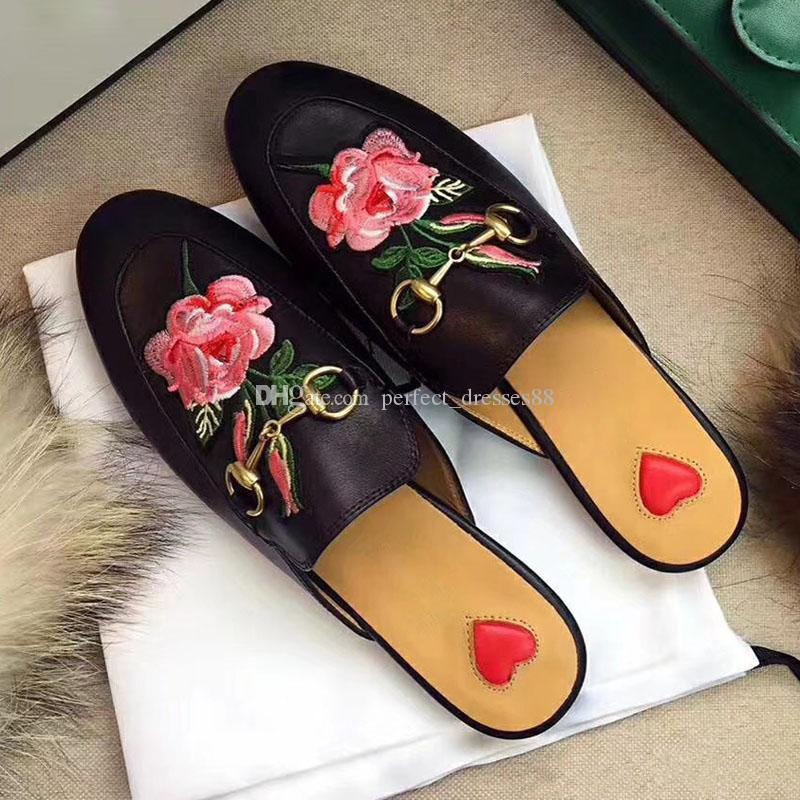 Новое поступление натуральная кожа бабочка узел плоские тапочки горный хрусталь обувь женщины дизайнеры мокасины скольжения на мулах слайды size35-42