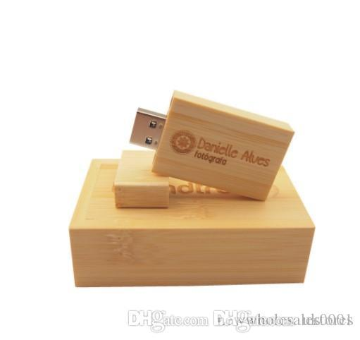 UK Pendrive Personalizado USB Flash Drive Wooden Pen Drive 4GB 8GB 16GB 32GB 64GB USB 2.0 Wedding Gift(over 20pcs Free Custom Logo)